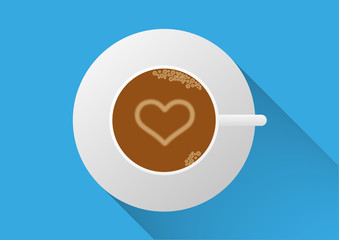 Coffee Cup with Heart Design