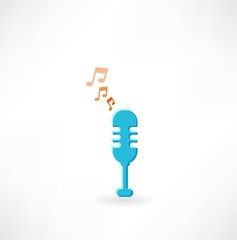 microphone with notes icon