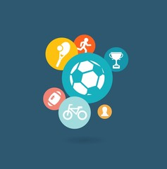 Sport composition of icons