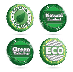 Eco badges and buttons. EPS10.