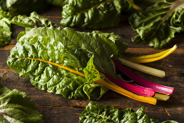 Raw Organic Rainbow Swiss Chard