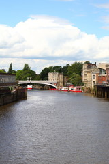 river Ouse in the City of York Yorkshire UK  the Lendal Bridge