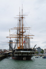 HMS Warrior Portsmouth Hampshire UK