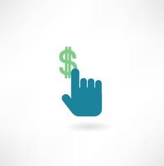 hand holding money icon