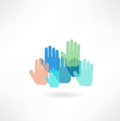 colorful hand icon