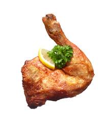 Knusprig gebackener Hühnchenschenkel