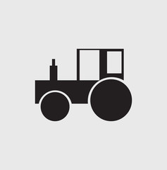 Vector set icons  tractor of transport. backhoe.