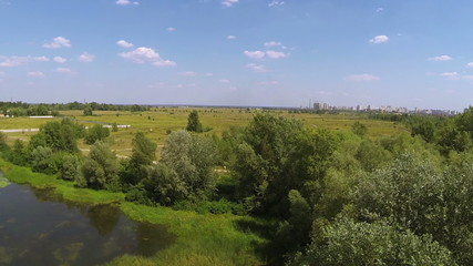 Landscape in  suburbs. Aerial
