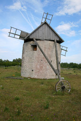 Old windmill from the island Gotland in the Baltic Sea, Sweden