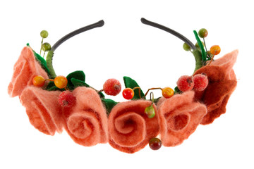 berries and beautiful roses woven into a wreath