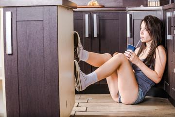 Girl on floor