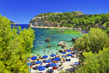 emerald beaches of Greek islands, Rhodes