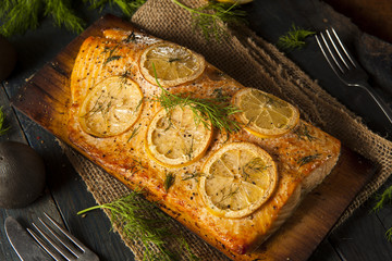 Homemade Grilled Salmon on a Cedar Plank