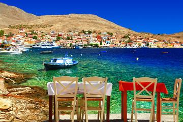 Greek  tavernas. Halki island