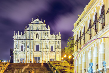 Ruins of St. Paul Cathedral in Macau, China