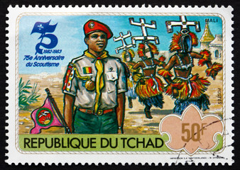Postage stamp Chad 1982 Boy Scout from Mali