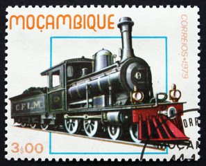 Postage stamp Guinea 1979 Historic Locomotive