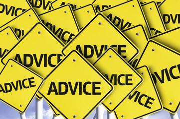 Advice written on multiple road sign