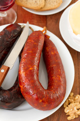 sausages on plate