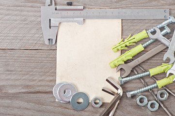 paper and metalwork tools