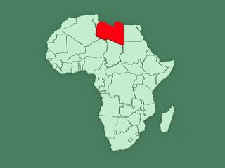 Map of worlds. Libya.