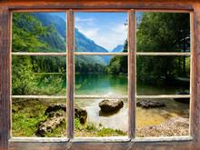 Fensterblick Bluntautal