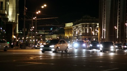 Night Moscow Traffic