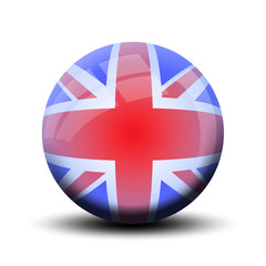 Drapeau en bulle : Angleterre