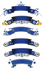 blue banners