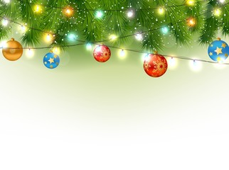 Christmas background with tree and light