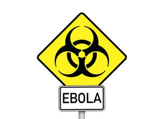 Schild mit EBOLA