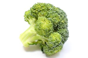 Portion of fresh green broccoli. White background