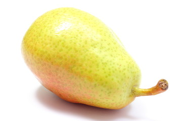 Fresh and natural pear on a white background