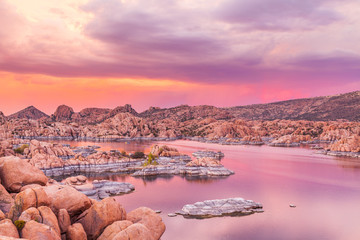 Watson Lake Prescott Arizona Sunset