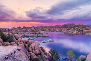 Watson lake Sunset Prescott Arizona