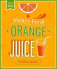Vintage Orange Juice Poster.