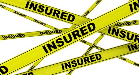 Застрахован (insured). Желтая оградительная лента