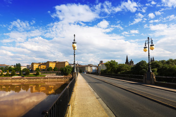 bridge over Ebro river in Logrono, La Rioja