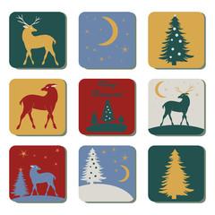 Flat Icon Set Weihnachten