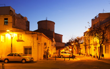 Evening street in Sant Adria de Besos