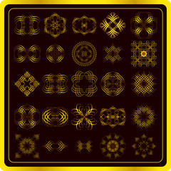 Set of fine gold elements
