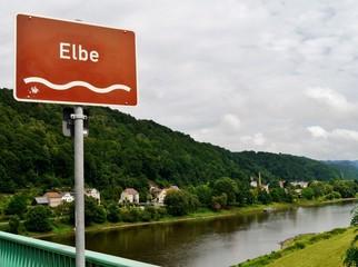Brücke über Elbe bei Bad Schandau
