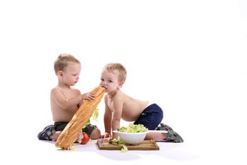 Samen een broodje delen