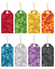 polygon gift tags