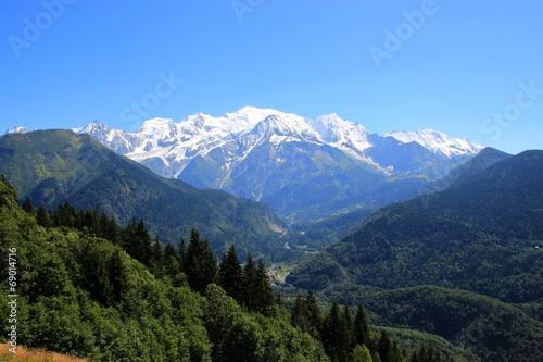 Papiers peints Alpes Le Mont-Blanc depuis Passy, France