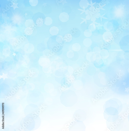 canvas print picture Winter Bokeh coopy space
