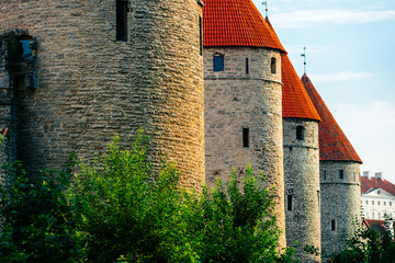 Four towers of Tallinn City Wall