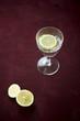 canvas print picture - Zitronenscheiben und stilles Wasser