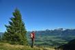canvas print picture - Wandern, Berge im Herbst