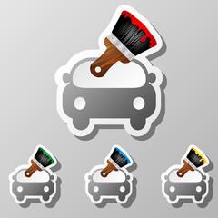 icons set brush